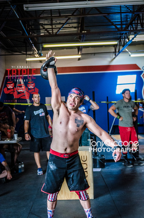 Denver sports event photography of Men's RX CFCC Triple Threat Crossfit Workout