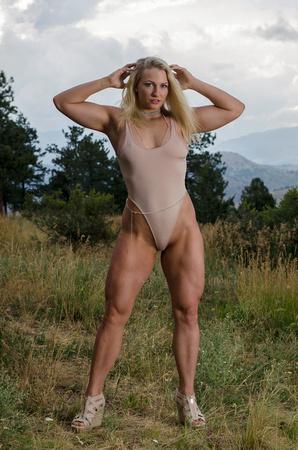 Fitness Model Rachel Pressler Flexing Her Quads | Sexy Fitness Photography | GoCrazyRachel