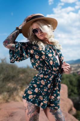 Summer dress photo shoot
