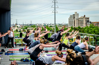 Airbnb Rooftop Yoga Event | Denver Event Photography | Sound Off Colorado