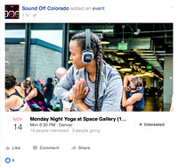 Personal Branding | Sound Off Colorado Yoga Classes at Space Gallery