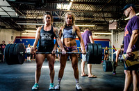 Denver fitness event photography of RX Crossfit Women in Denver, Colorado's Triple Threat Crossfit Competition.