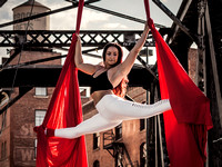 Aerial Silks Photo Shoot of Caroline Lange | Denver Aerial Acrobatics & Yoga