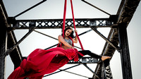 Aerial Yoga Dancer Flowing through the Air | Aerial Silks Photography