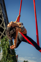 The Aerial Dance of the Silk Siren | Denver Aerial Yoga Photo Shoot