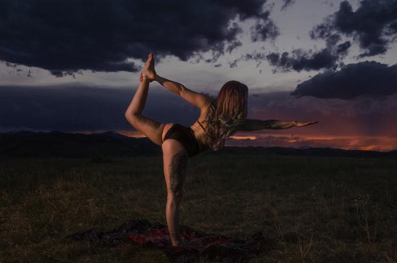 dancing yoga girl