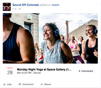 Brand Marketing | Sound Off Colorado Yoga Classes at Space