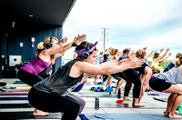 Airbnb Rooftop Yoga Event | Denver Event Photography